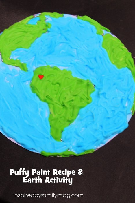 puffy paint recipe for earth day