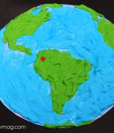 Earth Day Activity: Puffy Paint Recipe & Earth Art