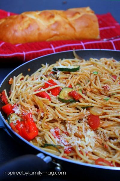 Mother's Day Dinner: Spaghetti with Spicy Tomato Sauce