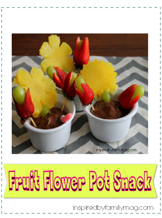 fruit flower pot snack