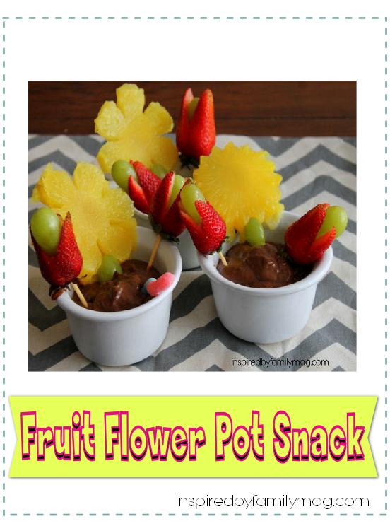fruit flower pot snack