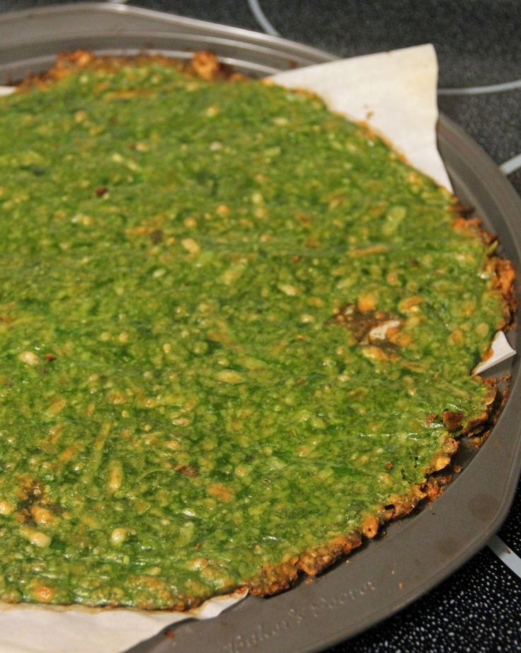 spinach crust