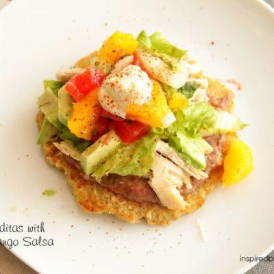 Quinoa Gorditas with Avocado Mango Salsa