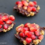 Dark Chocolate Pomegranate Tarts {Gluten Free & No Bake}