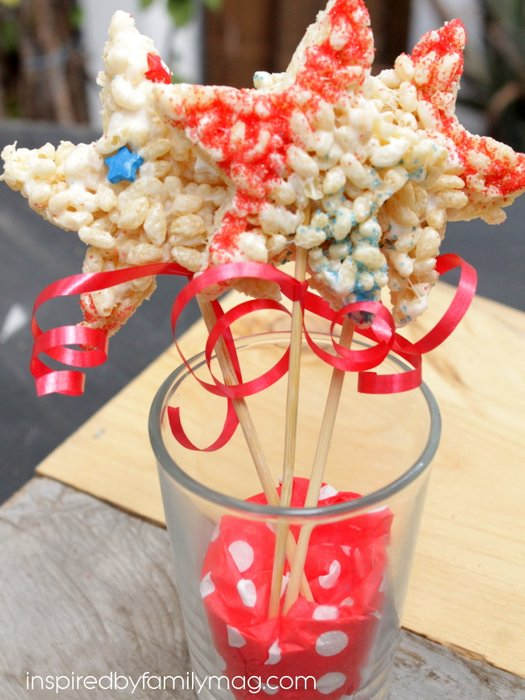 rice krispie star wands