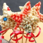 July 4th Dessert: Rice Krispie Star Wands