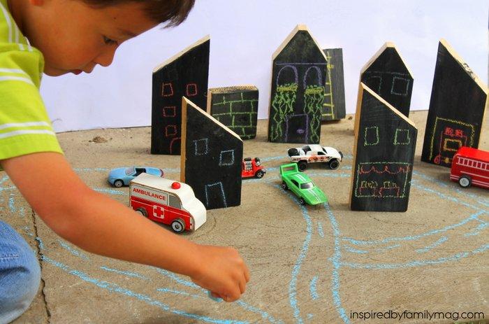 diy chalkboard wooden blocks