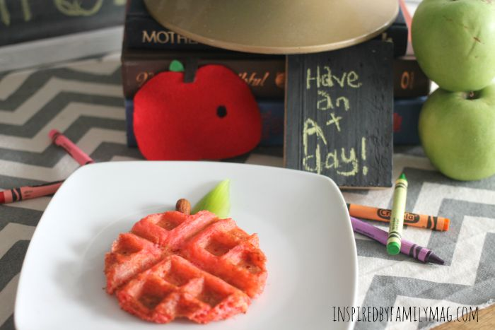 back to school waffles