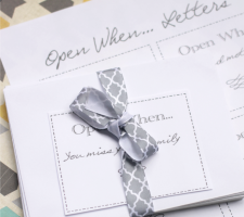College Send Off Gifts: Open When… Letters