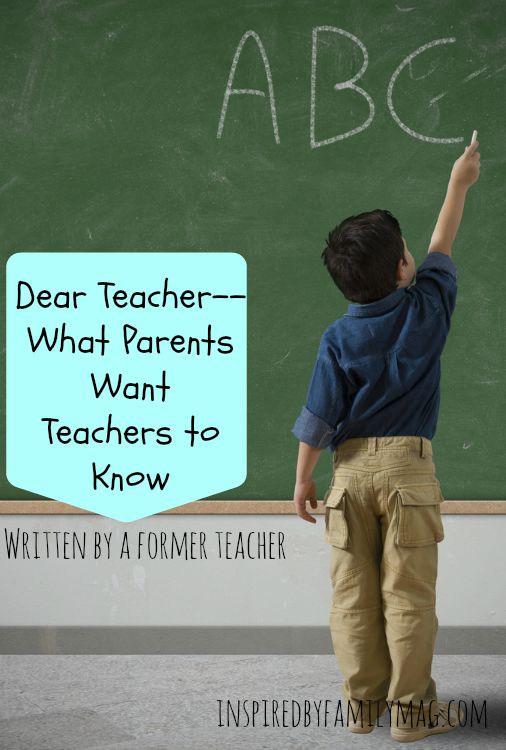 parents want teachers to know