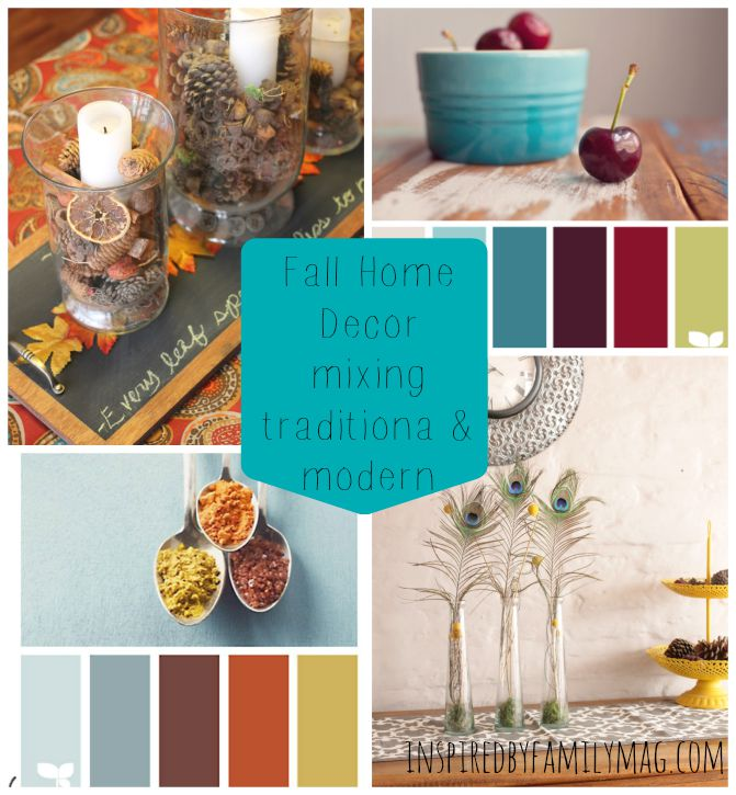 Fall home decor mixing traditional modern for Modern fall home decor