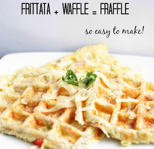 Eggs Meet Waffle Maker–Fraffle