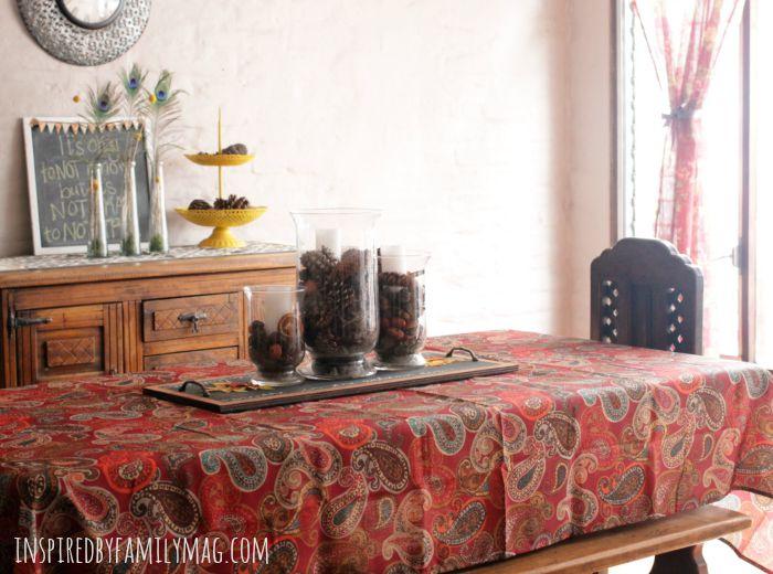 fall home decor tables cape