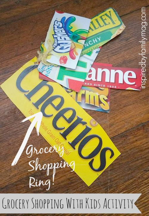 grocery shopping ring for kids