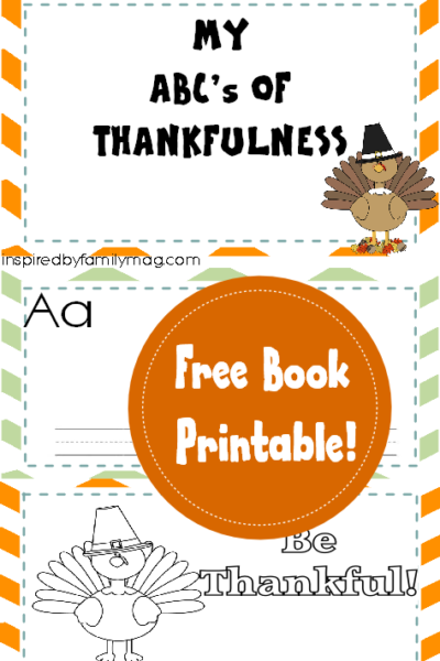 My ABC's of Thankfulness Booklet