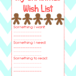 Christmas Wish List Printable