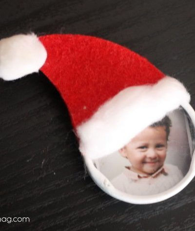 Bottle Cap Christmas Ornament Kid Craft