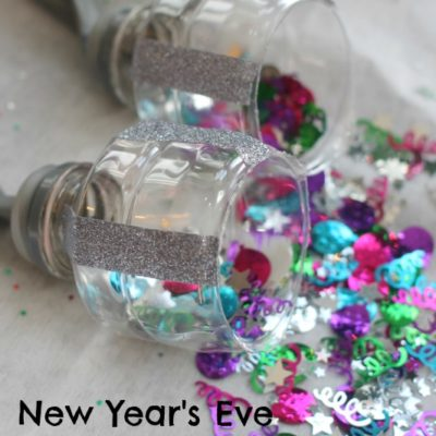 New Year's Eve Activity for Kids: Confetti Poppers