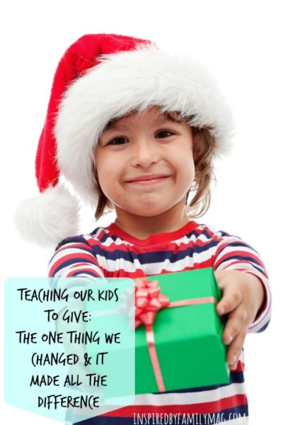 Teaching Our Kids to Give: The One Thing We Changed