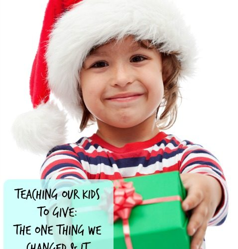 Teaching Our Kids to Give: The One Thing to Change it Makes All the Difference