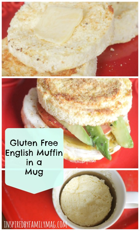 english muffin in a mug