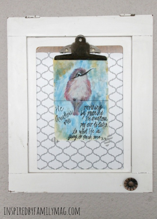 scripture art clip board