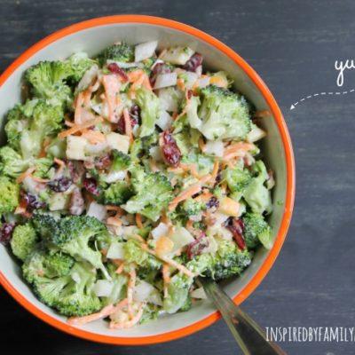Broccoli Cranberry Apple Salad