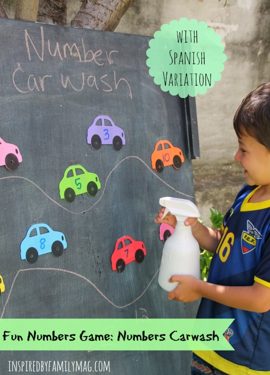 Fun game to learn the numbers numbers car wash for Outdoor gross motor activities for preschoolers