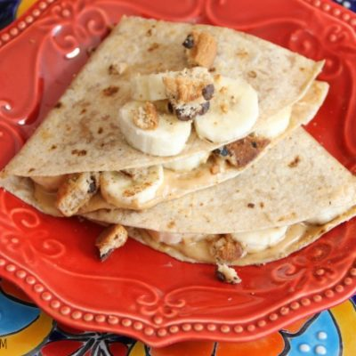 Chips Ahoy Peanut Butter Banana Quesadilla
