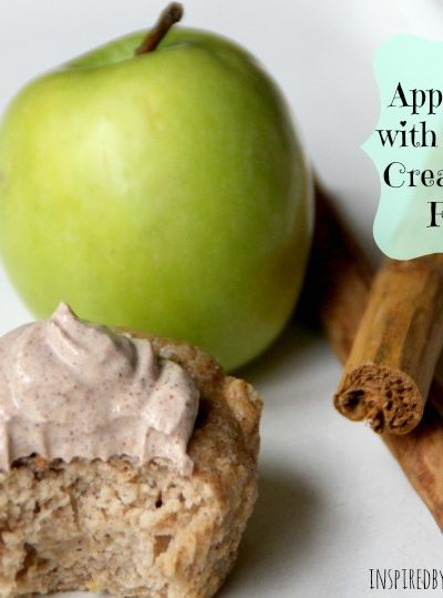 Apple Muffins with Cinnamon Cream Cheese Frosting