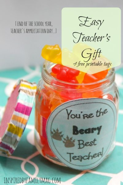 Teacher Gift: You're the Beary Best!