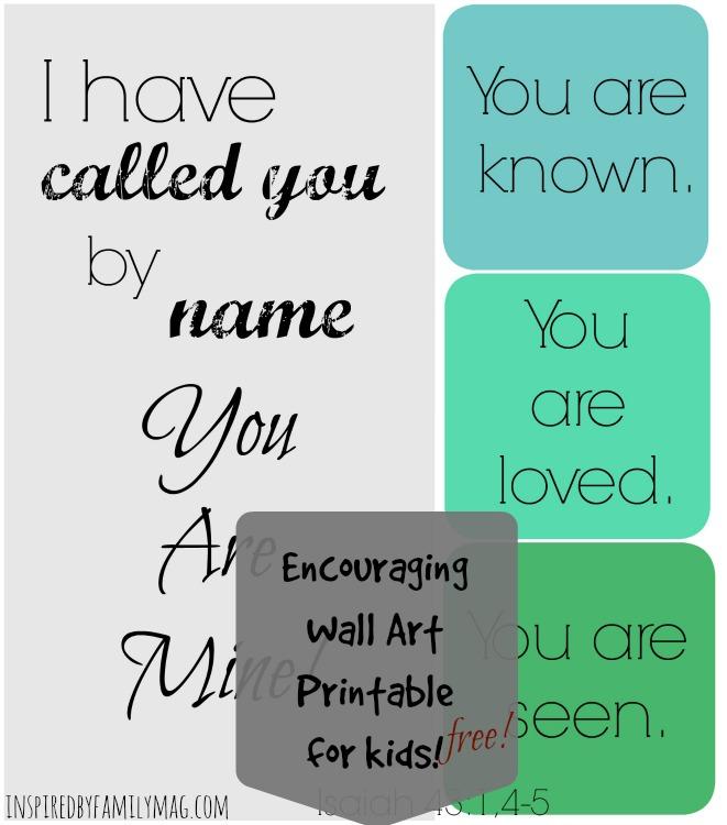Isaiah 43 1 wall art printable