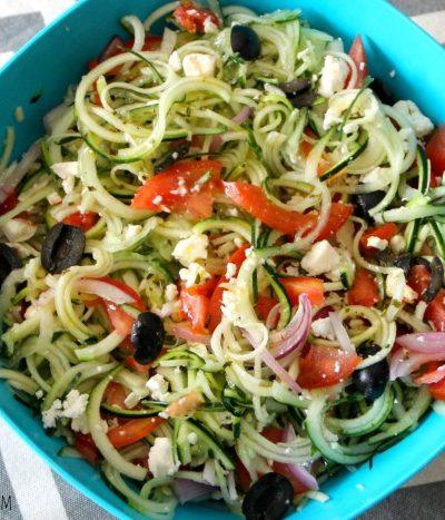 Spiraled Greek Salad