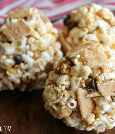 Dulce de Leche S'mores Popcorn Balls