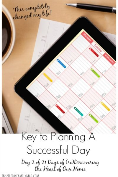 Key to Planning a Successful Day