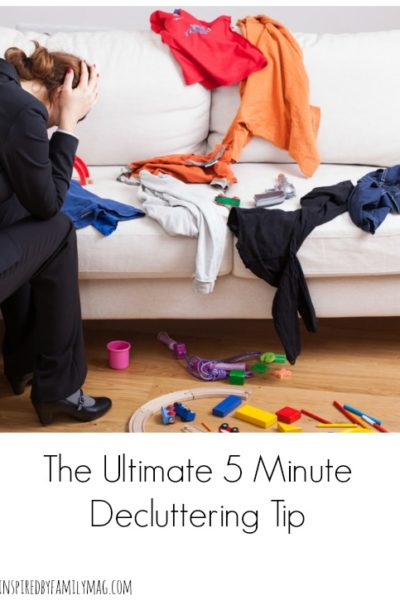 The Ultimate 5 Minute DeCluttering Tip