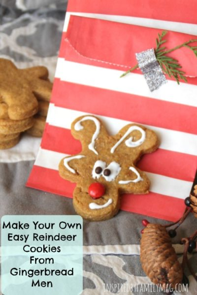 Make Your Own Easy Reindeer Cookies From Gingerbread Men