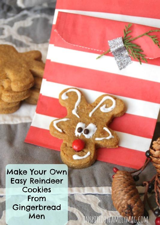 Make your own easy reindeer cookies from gingerbread men reindeer cookies solutioingenieria Image collections