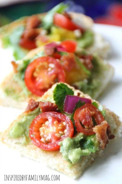 Easy Appetizer Southwestern Pico de Gallo Avocado Toast