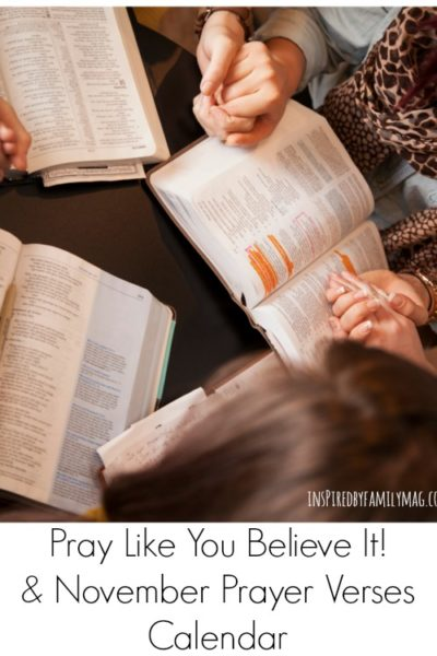 Pray Like You Believe It & November Praying Scripture Calendar