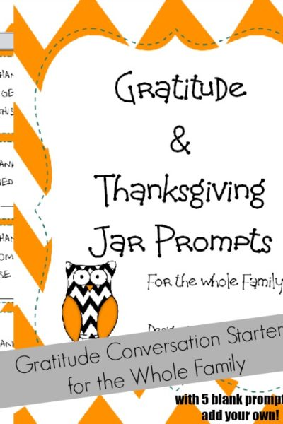 Gratitude Can Be Contagious with Thankful Conversation Starters for the Whole Family