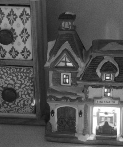 The Misplaced Christmas Village Fire Station & Grieving