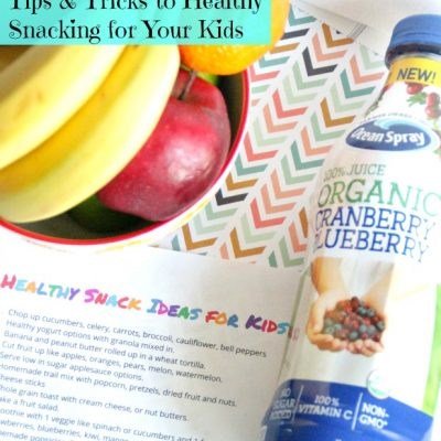 12 Tips and Tricks to Healthy Snacking for Your Kids