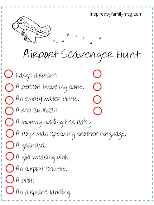 mall photo scavenger hunt party ideas - Traveling with Kids Traveling Scavenger Hunt Inspired